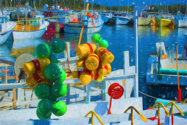 Photograph - Fishing Buoys And Boats Of Prince Edward Island by Ginger Wakem