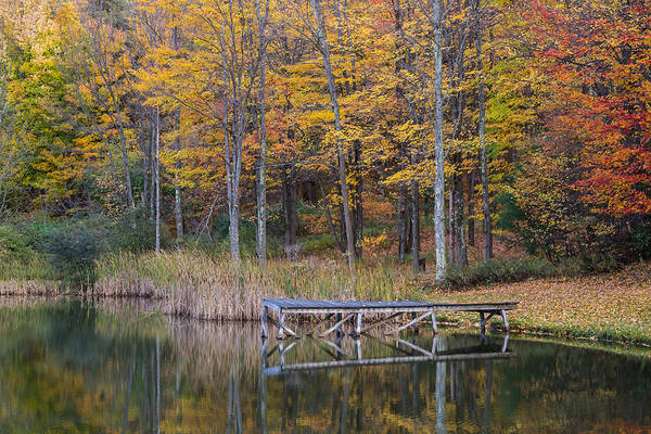 Photograph - Fishing Dock In The Fall by Frank Morales Jr