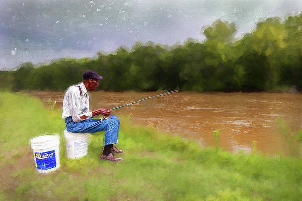 Wall Art - Painting - Fishing For Dinner Ap by Dan Carmichael