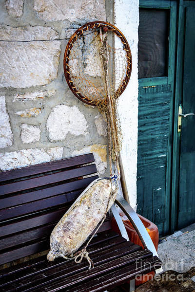 Photograph - Fishing Gear In Primosten, Croatia by Global Light Photography - Nicole Leffer