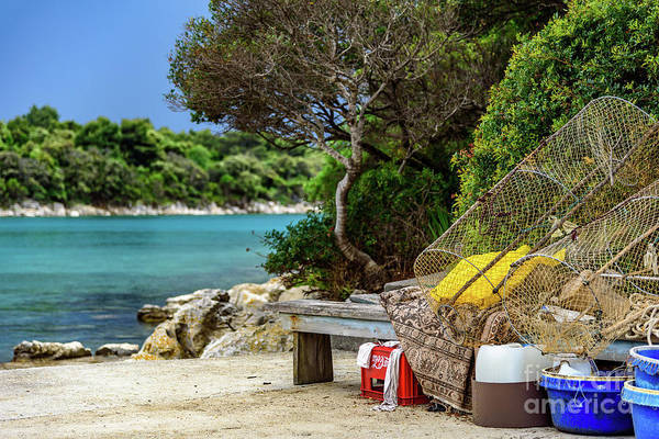 Photograph - Fishing Gear On The Rab Coast, Croatia by Global Light Photography - Nicole Leffer