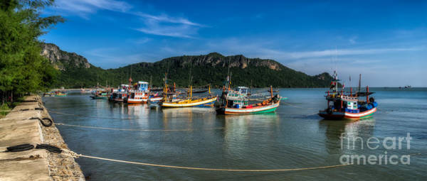 Fishing Boat Photograph - Fishing Harbour by Adrian Evans
