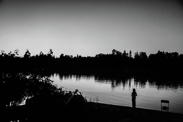 Wall Art - Photograph - Fishing In Black And White by Monte Arnold