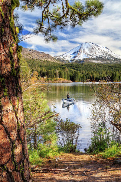 Wall Art - Photograph - Fishing In Manzanita Lake by James Eddy