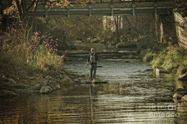 Trout Stream Photograph - Fishing In November - 1 by Mary Machare