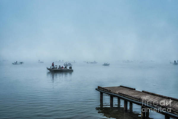 Photograph - Fishing In The Fog Summersville Lake  by Thomas R Fletcher