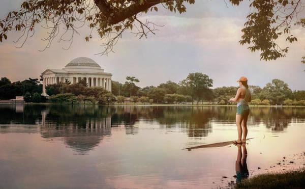 Wall Art - Photograph - Fishing In Washington Dc by Joan Carroll