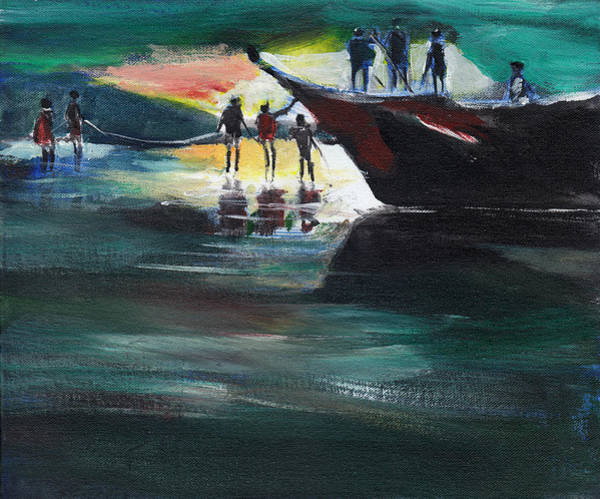 Painting - Fishing Line by Anil Nene