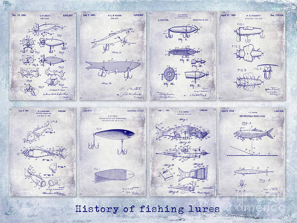 Wall Art - Photograph - Fishing Lure Patent History by Jon Neidert