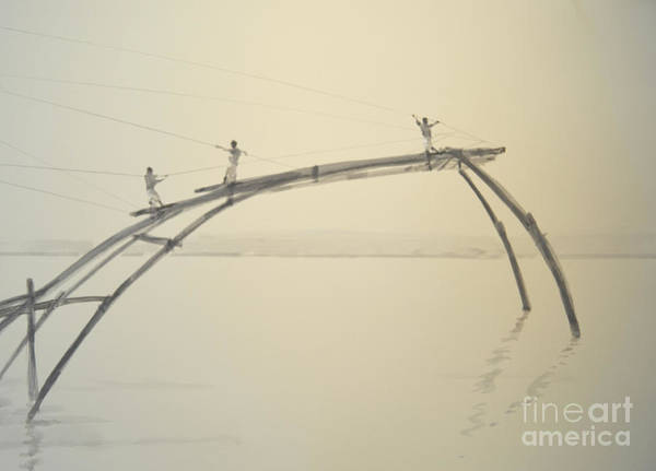 Wall Art - Painting - Fishing Nets Cochin  Two by Lincoln Seligman