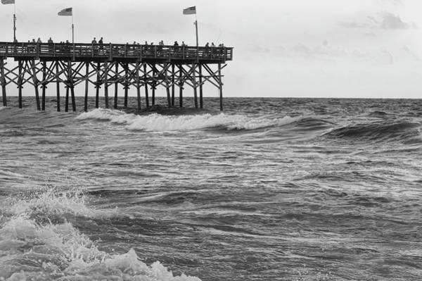 Photograph - Fishing Off The Pier At Myrtle Beach by Chris Flees