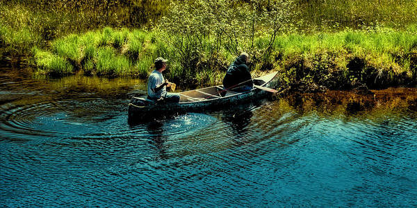 Photograph - Fishing On The Moose River by David Patterson