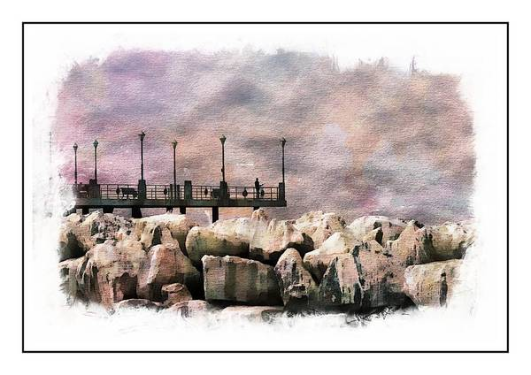 Photograph - Fishing On The Rocks by Michael Hope
