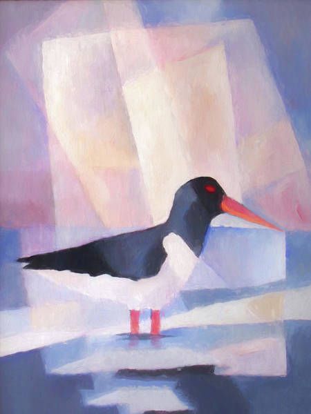 Painting - Fishing Oystercatcher by Lutz Baar