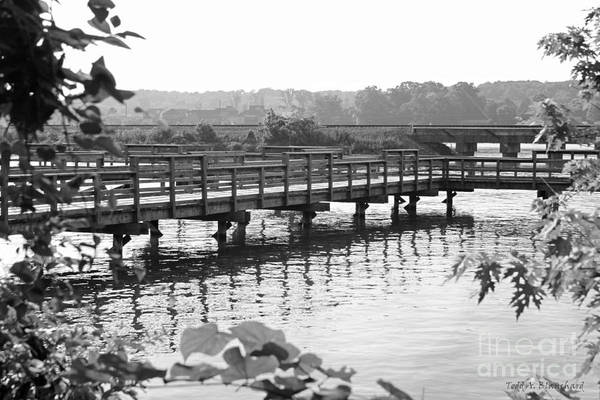 Photograph - Fishing Pier And Train Tracks by Todd Blanchard