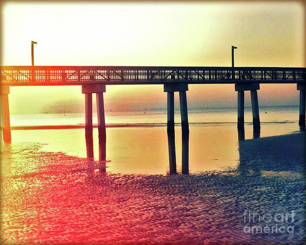 Wall Art - Photograph - Fishing Pier At Dawn by Chris Andruskiewicz