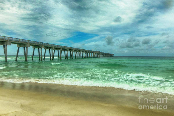 Photograph - Fishing Pier by Judy Hall-Folde