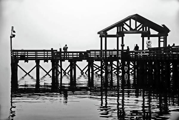 Photograph - Fishing Pier, Leesylvania State Park, Va by Bill Jonscher
