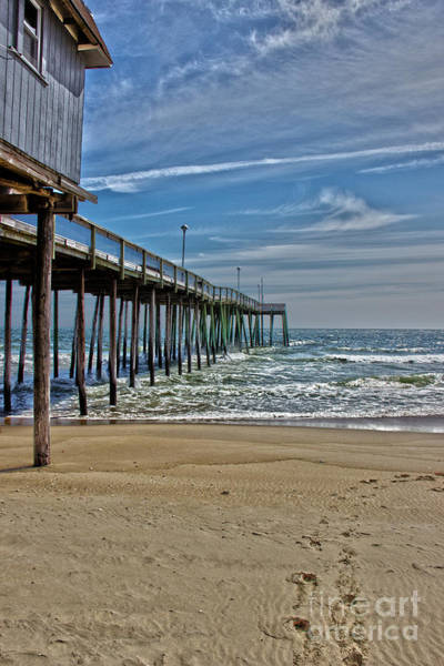 Costal Photograph - Fishing Pier Md by Tom Gari Gallery-Three-Photography