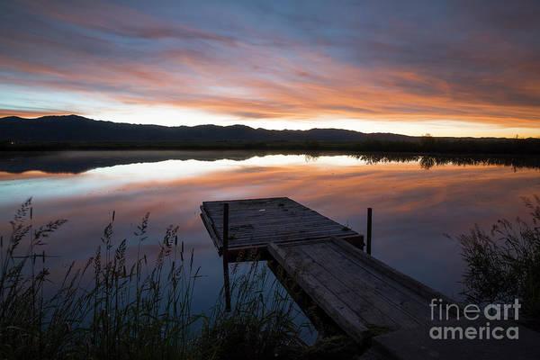 Wall Art - Photograph - Fishing Pond Morning Twilight by Idaho Scenic Images Linda Lantzy