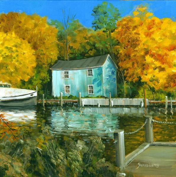 Wall Art - Painting - Fishing Shanty by Michael Swanson