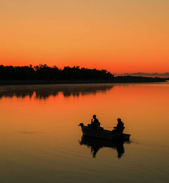 Photograph - Fishing Silhouette At Sunrise by Dan Sproul