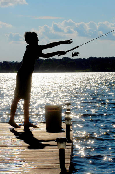 Photograph - Fishing Silhouette by Steve Somerville