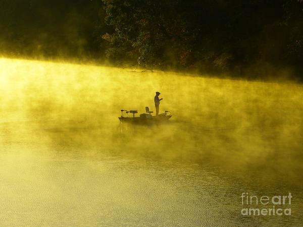 Fishing The Prettyboy Reservoir Art Print