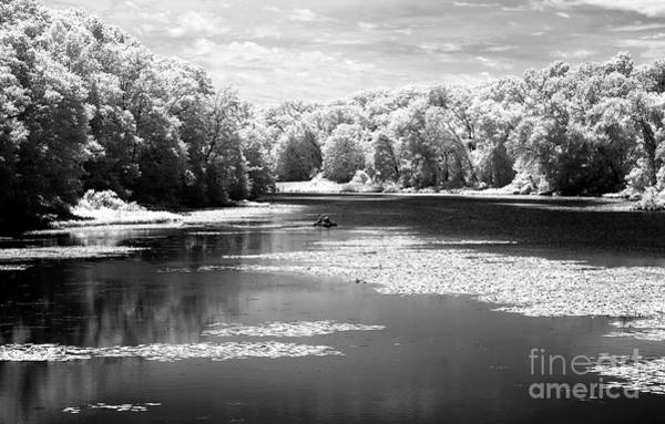 Photograph - Fishing The Raritan River Infrared by John Rizzuto