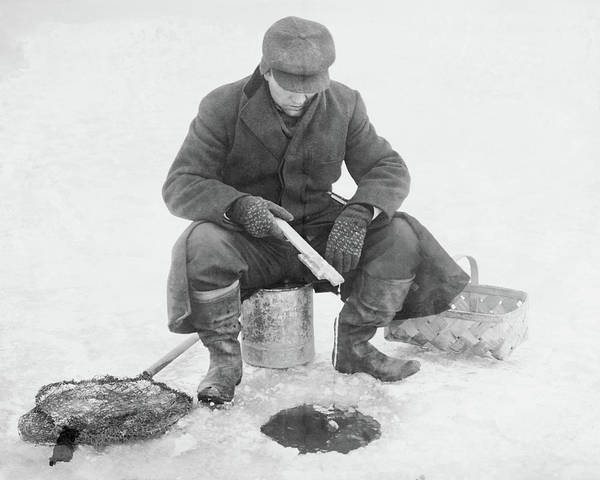 Photograph - Fishing Through Ice by Anthony Murphy