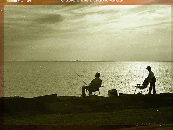 Photograph - Fishing Together by Charles McKelroy