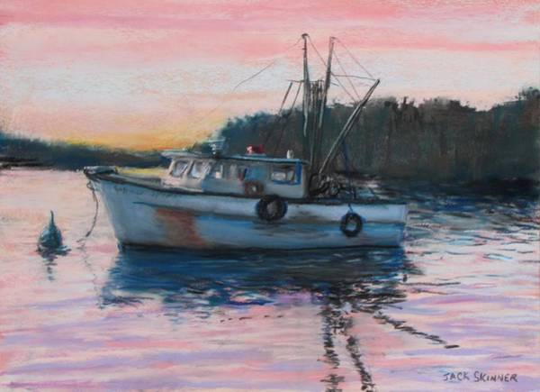 Wall Art - Painting - Fishing Trawler At Rest by Jack Skinner