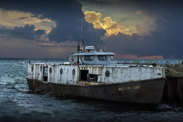 Photograph - Fishing Trawler The Morning Star Anchored In Fairport Harbor by Randall Nyhof