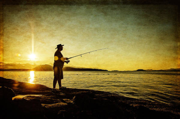 Photograph - Fishing Until The Sun Goes Down by Roxy Hurtubise