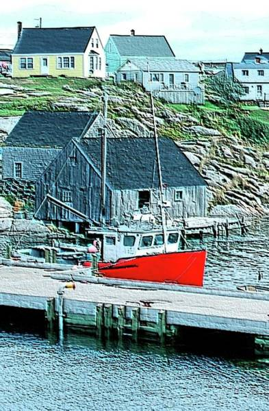 Halifax Nova Scotia Digital Art - Fishing Village by Kathleen Struckle