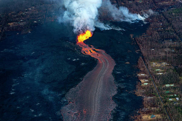 Fissure Photograph - Fissure 8 In Leilani Estates by Christopher Johnson