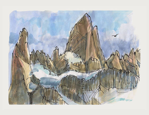 Painting - Fitz Roy, Patagonia by Judith Kunzle