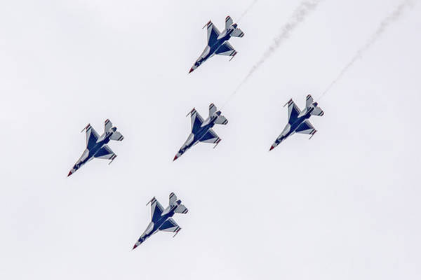 Photograph - Five Away Thunderbirds by Jack R Perry