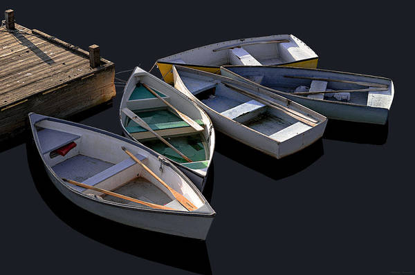 Photograph - Five Dinghies by Marty Saccone