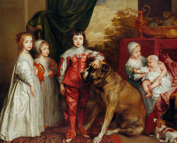 Painting - Five Eldest Children Of Charles I by Anthony van Dyck