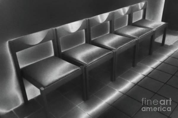 Photograph - Five Empty Chairs by Eva-Maria Di Bella