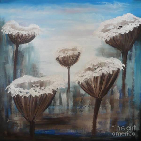 Painting - Five Flowers by Monika Shepherdson