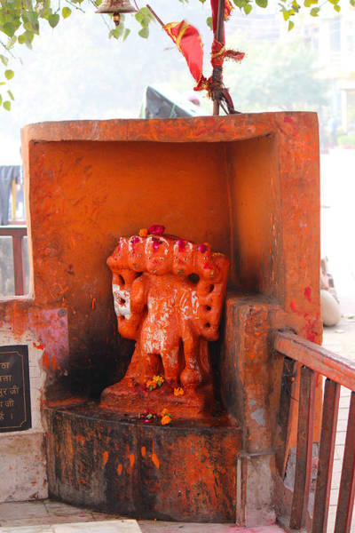 Wall Art - Photograph - Five Headed Hanuman, Haridwar by Jennifer Mazzucco