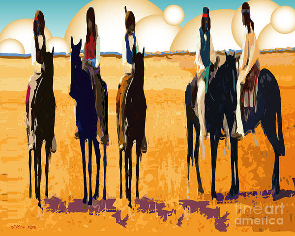 Digital Art - Five Horsemen by Hilton McLaurin