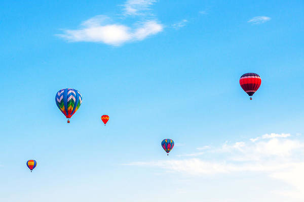 Photograph - Five Hot Air Balloons by SR Green