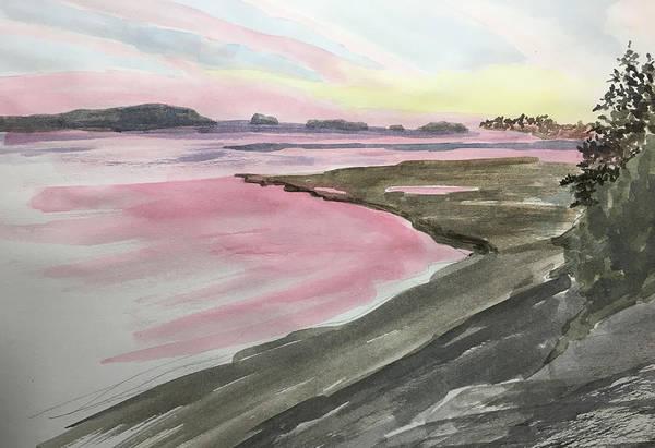 Five Islands - Watercolor Sketch  Art Print