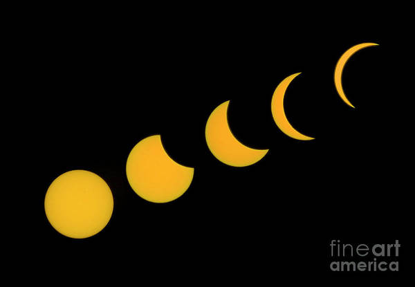 Photograph - Five Phases Of The Eclipse by Martin Konopacki