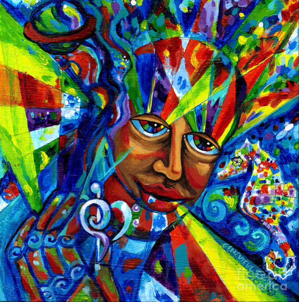 Evolution Painting - Five Senses Of Love And Hope by Genevieve Esson