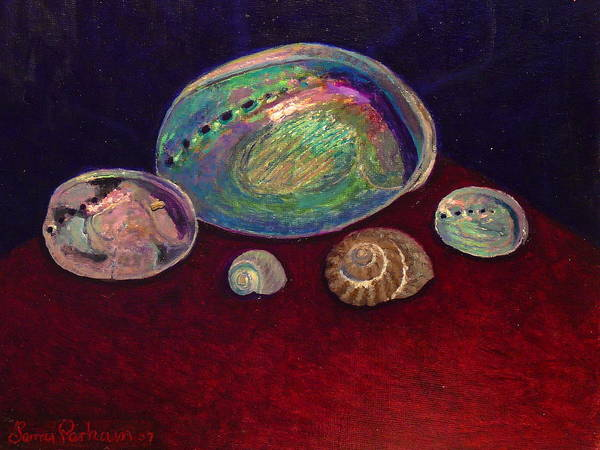 Nz.impressionist Painting - Five Shells by Terry Perham