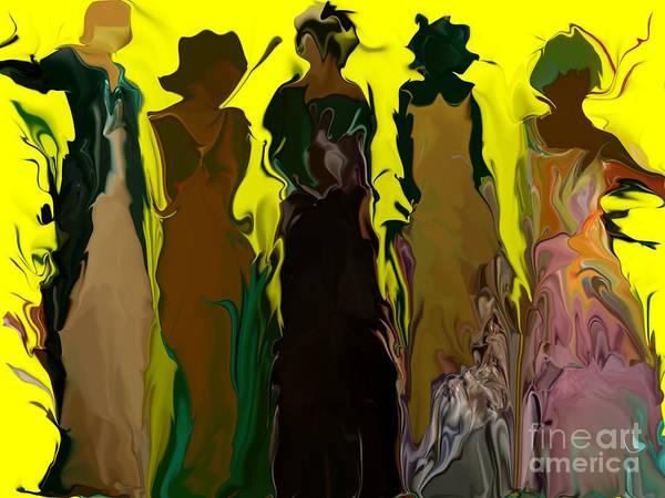 Essence Digital Art -  Women Fashion Gowns by Brenda Doughty